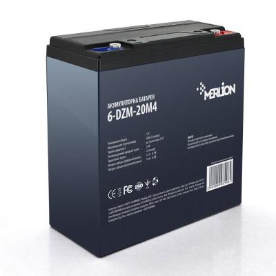 Тяговый аккумулятор MERLION 6-DZM-20