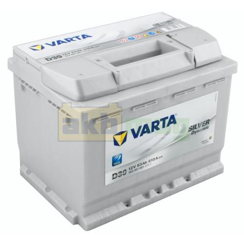 Автомобильный аккумулятор Varta 6СТ-63 D39 Silver Dynamic