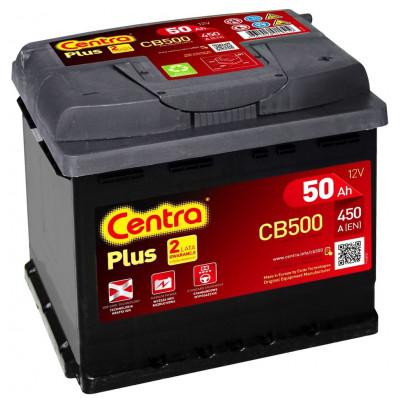 Автомобильный аккумулятор Centra 6СТ-50 Plus CB500