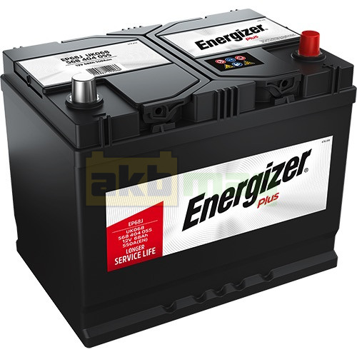 Автомобильный аккумулятор Energizer 6СТ-68 Plus EP68J