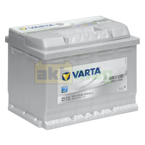 Автомобильный аккумулятор Varta 6СТ-63 D15 Silver Dynamic