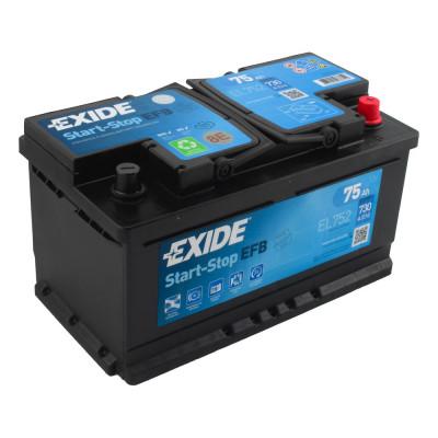 Автомобильный аккумулятор Exide 6СТ-75 Start-Stop EFB EL752