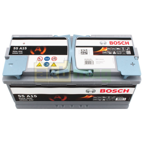 Автомобильный аккумулятор Bosch 6СТ-105 S5 A15 AGM 0092S5A150