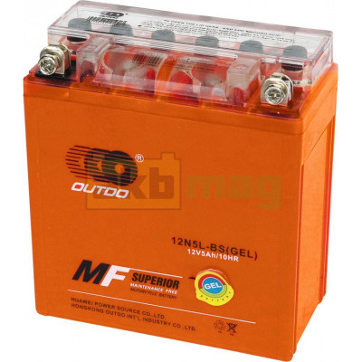 Мото аккумулятор Outdo 6СТ-5 12N5L-BS