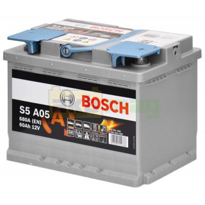 Автомобильный аккумулятор Bosch 6СТ-60 S5 A05 AGM 0092S5A050