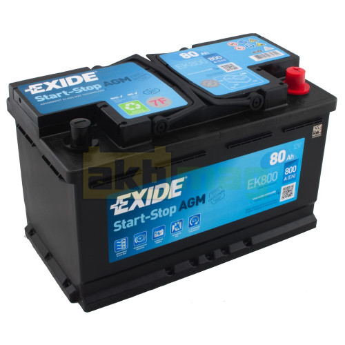 Автомобильный аккумулятор Exide 6СТ-80 Start-Stop AGM EK800