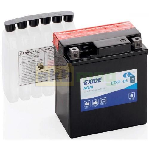 Мото аккумулятор Exide 6СТ-6 ETX7L-BS