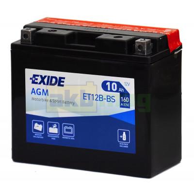 Мото аккумулятор Exide 6СТ-10 ET12B-BS