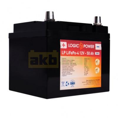 Аккумулятор литиевый LogicPower 12V 50AH R LiFePO4