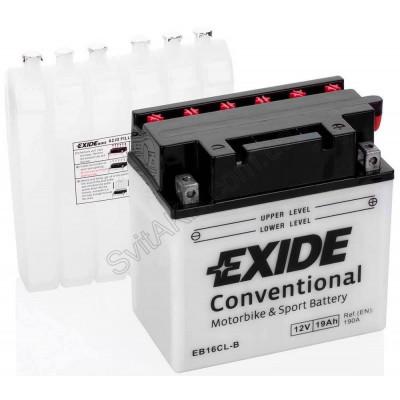 Мото аккумулятор Exide 6СТ-19 EB16CL-B