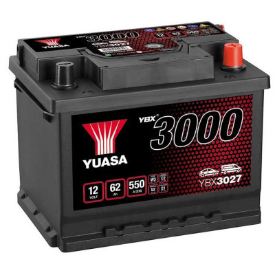 Автомобильный аккумулятор Yuasa 6СТ-62 SMF YBX3027